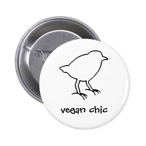 vegan chic button