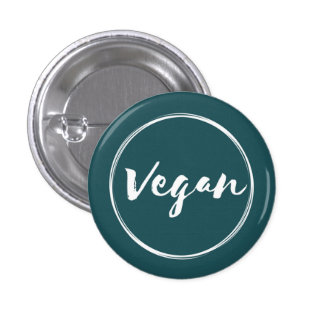 Vegan Circle blue 3 Cm Round Badge