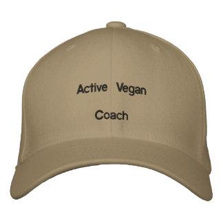 Vegan coach baseball cap: ~Active Vegan~ Embroidered Hat