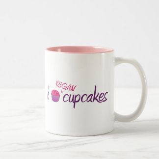 Vegan Cupcakes Two-Tone Mug