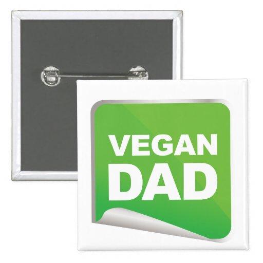 Vegan Dad Label Pinback Button