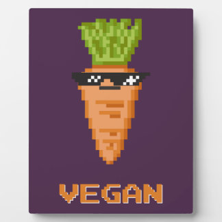 "Vegan ""Deal With It"" Carrot Plaque"