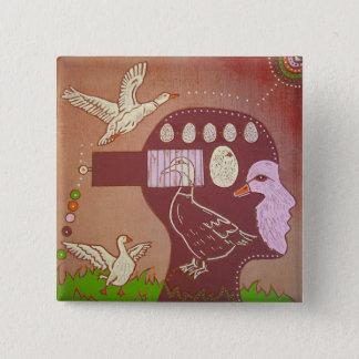 Vegan duck swipes in 15 cm square badge