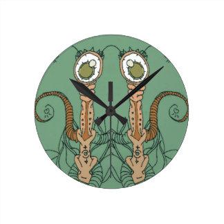Vegan-Eyes Round Clock