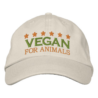 VEGAN FOR ANIMALS -002 EMBROIDERED HAT