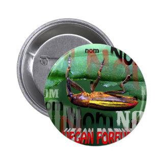 vegan forever 6 cm round badge
