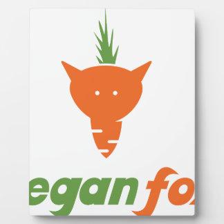 Vegan Fox Plaque
