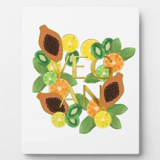 Vegan fruit plaque