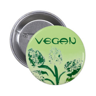 Vegan Green 6 Cm Round Badge