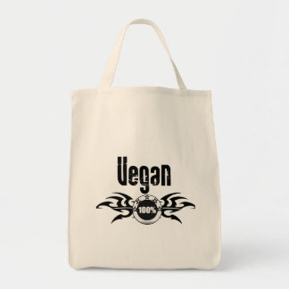 Vegan Grunge Winged Emblem Tote Bag