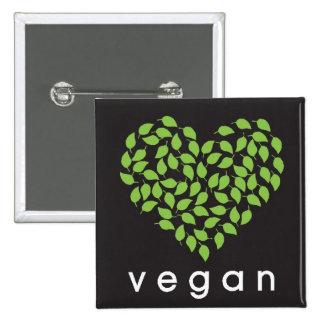 vegan heART 15 Cm Square Badge