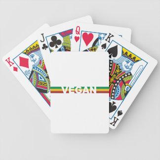 Vegan in Rasta Stripes Bicycle Playing Cards