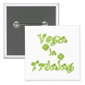 Vegan in Training 15 Cm Square Badge