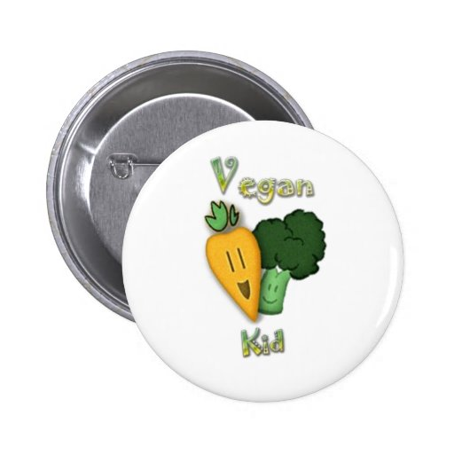Vegan Kid Button