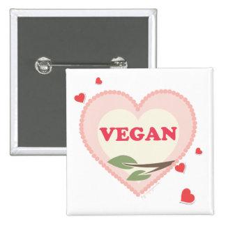 Vegan Love 15 Cm Square Badge