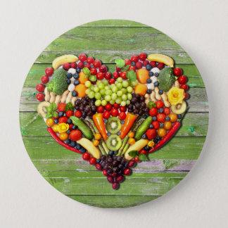 VEGAN LOVE -  your Heart 10 Cm Round Badge