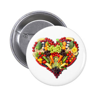 VEGAN LOVE -  your Heart 6 Cm Round Badge