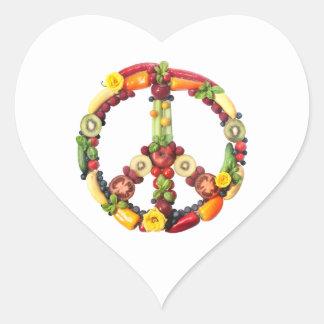 Vegan Peace Heart Sticker