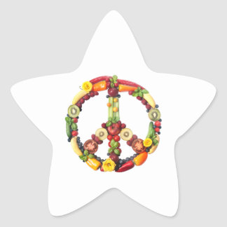 Vegan Peace Star Sticker