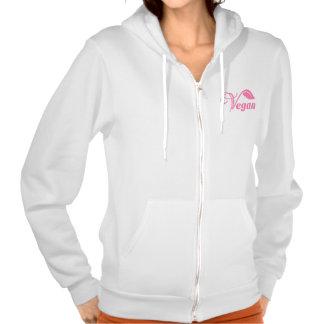 Vegan pink logo hoodies