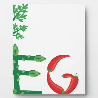 vegan plaque
