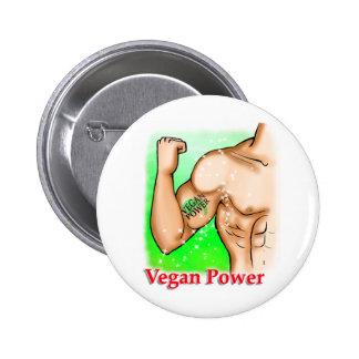 vegan power 6 cm round badge