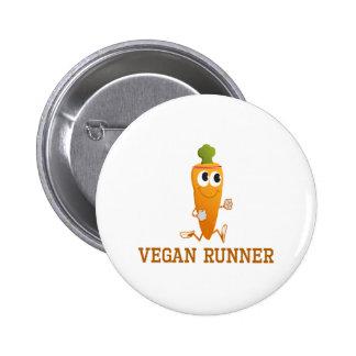 Vegan Runner Carrot 6 Cm Round Badge