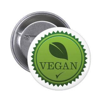 Vegan Seal 6 Cm Round Badge