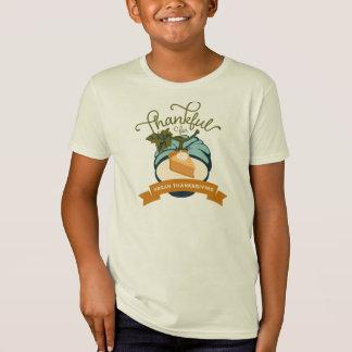 Vegan Thanksgiving Pumpkin Pie - Kids' Organic T-Shirt
