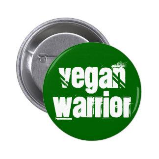 Vegan Warrior Pinback Buttons