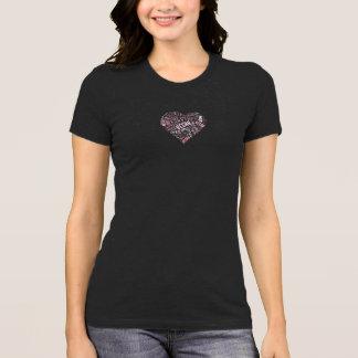 """Vegan"" Word-Cloud Mosaic Heart & Quote (black) T-Shirt"