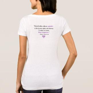 """Vegan"" Word-Cloud Mosaic Heart & Quote (purples) T-Shirt"