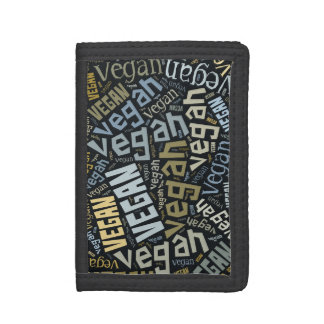 """Vegan"" Word-Cloud Mosaic Wallet"
