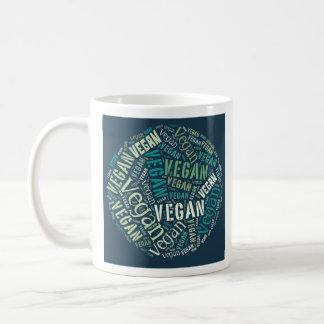 """Vegan"" Word-Cloud Sphere & Quote Basic White Mug"