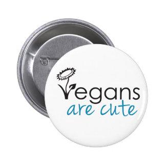 Vegans are Cute - An Advocates Custom Design 6 Cm Round Badge