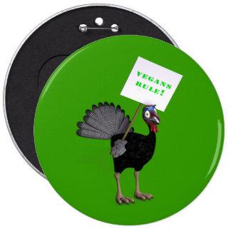 Vegans Rule! 6 Cm Round Badge