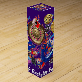 Vegas Bachelor Bachelorette Party Customize Wine Bottle Box