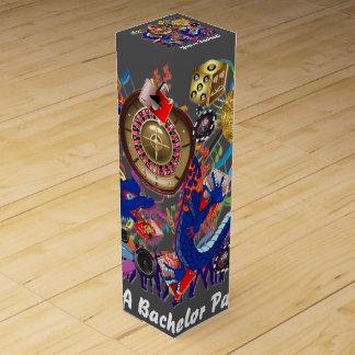 Vegas Bachelor Bachelorette Party Customize Wine Box