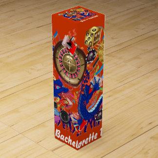 Vegas Bachelor Bachelorette Party Customize Wine Gift Boxes