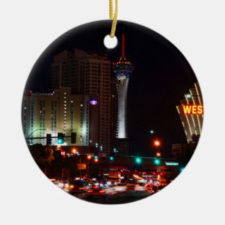 Vegas Paradise Road Christmas Ornament