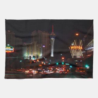 Vegas Paradise Road Tea Towel