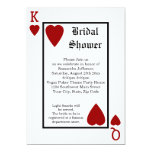 Vegas Playing Card King/Queen Bridal Shower 13 Cm X 18 Cm Invitation Card