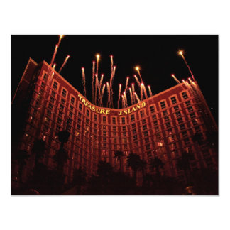 """Vegas - Treasure Island 4.25"""" X 5.5"""" Invitation Card"""