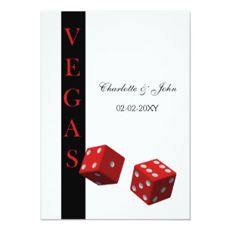 "Vegas wedding save the date announcement 5"" x 7"" invitation card"