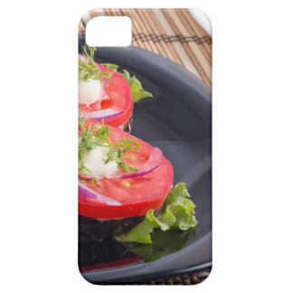 Vegetable dishes of stewed eggplant and tomato iPhone 5 cases