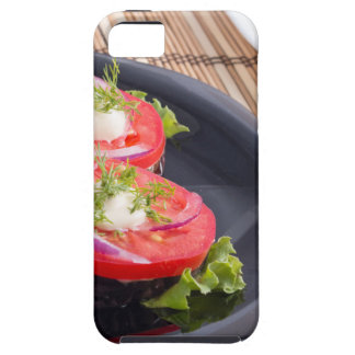 Vegetable dishes of stewed eggplant and tomato iPhone 5 cover