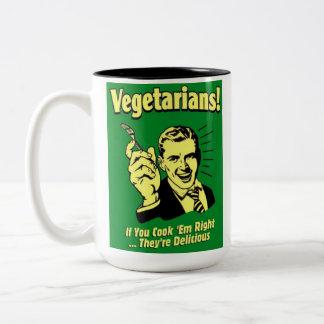 Vegetarian humor mug