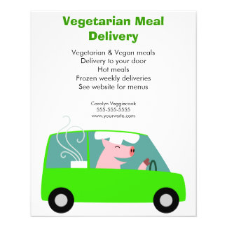 Vegetarian Meal Delivery Service Flyer