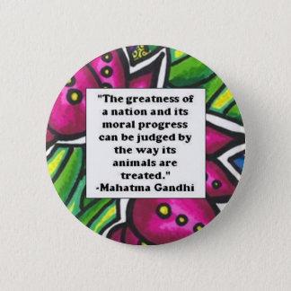 Vegetarian Quote 6 Cm Round Badge