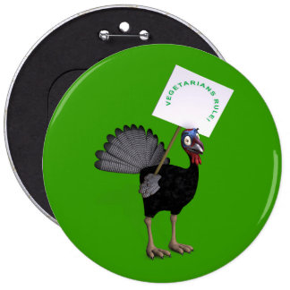 Vegetarians Rule! 6 Cm Round Badge